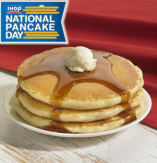 Get a free short stack of buttermilk pancakes at IHOP on March 8, 2016!