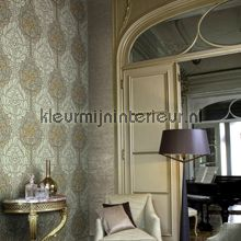Art nouveau bloemmotief behang LOA1904 Interieurvoorbeelden behang Arte