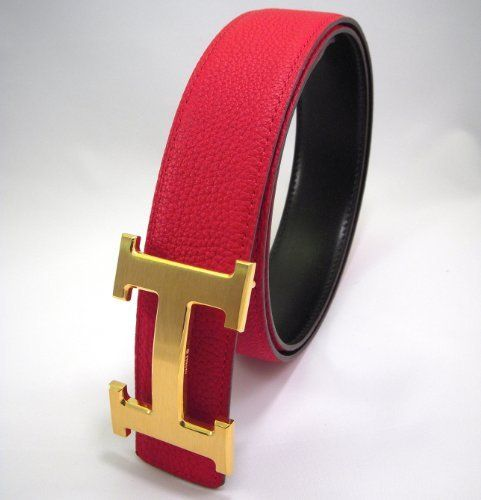 Brushed Gold H Buckle Belt - Red / Black - Reversible (24-28 Inches), http://www.amazon.com/dp/B00IVS6MPU/ref=cm_sw_r_pi_awdm_T12Dtb1S0J90Z
