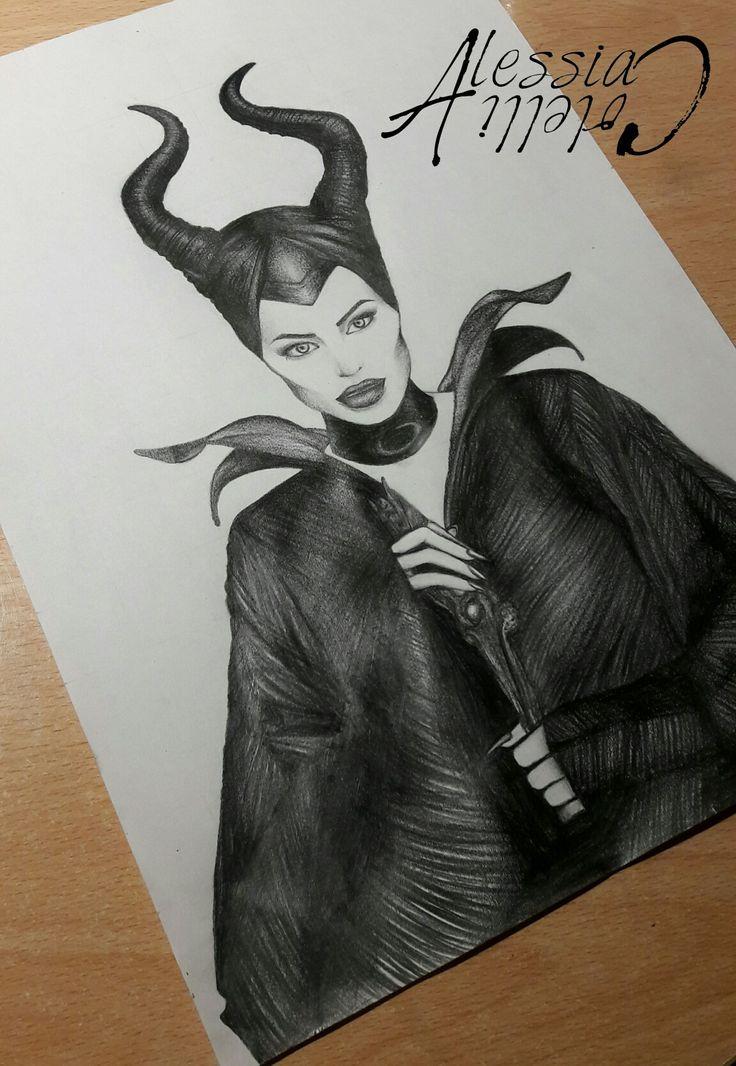 #maleficient #angelinajolie #drawing