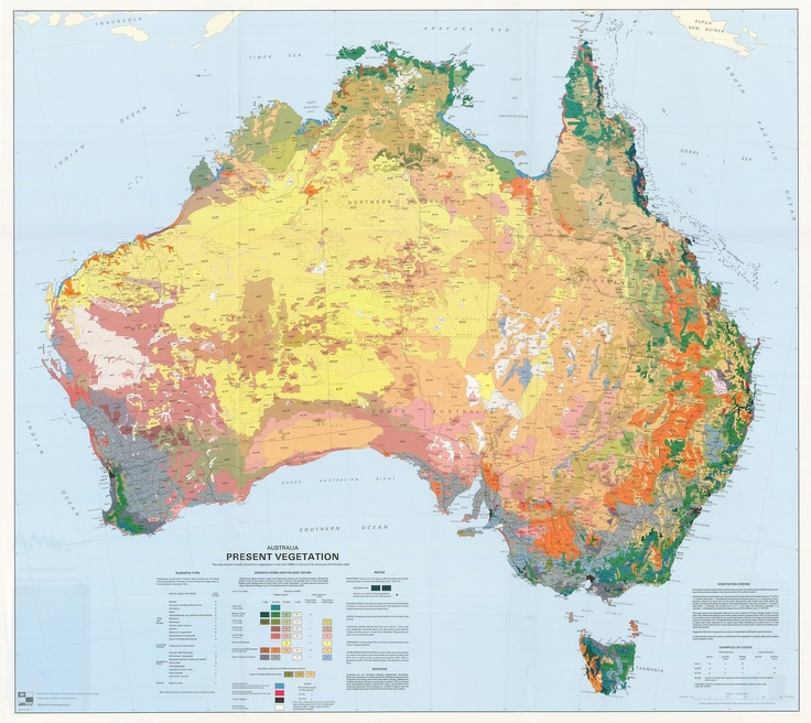 Australia Present Vegetation Map 123 best