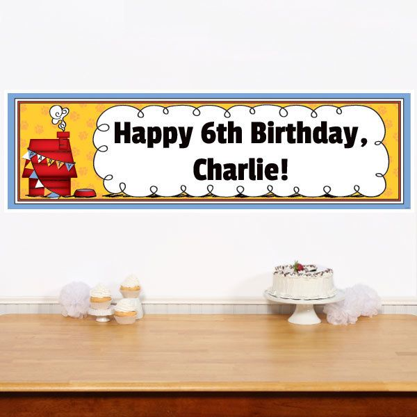 Pawty Animal 5 ft. Large Personalized Banner