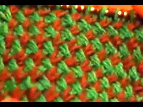 Двухцветный узор спицами (two color pattern spokes) - YouTube