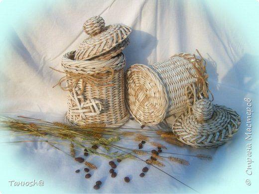 Поделка изделие Плетение Country Style и часики  Картон Клей Трубочки бумажные фото 2