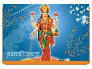 Vidya Lakshmi by Rahul Kaushal Astrologer ------------------------------------------------------ The consort of Lord Vishnu, Goddess Lakshmi is the presiding deity of wealth and knowledge. She is worshipped in eight forms like Vidya Lakshmi, Santana Lakshmi, Dhana Lakshmi, Soubhagya Lakshmi, Dhairya Lakshmi, Vijaya Lakshmi, Adi Lakshmi and Dhanya Lakshmi. http://www.pandit.com/vidya-lakshmi/