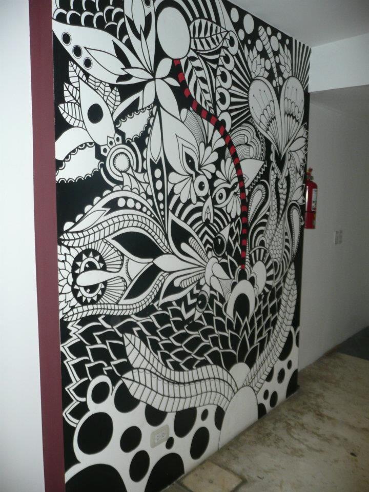 ©MarianoPadilla - Mural - Wall Painting - Uni Posca on 10m² wall - Productora Gravedad Zero