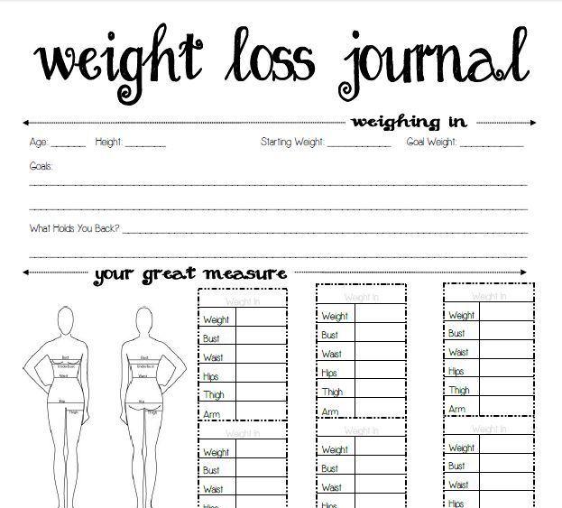 free printable weight loss journal template koni polycode co