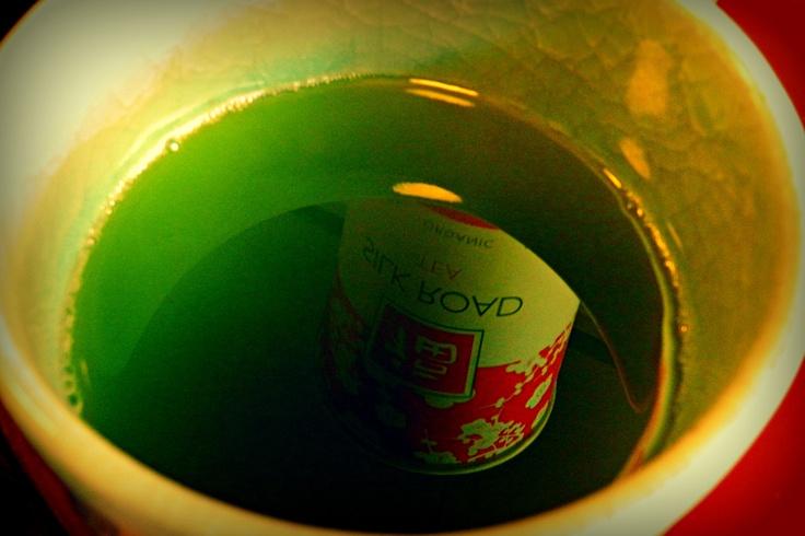 """Reflection in a Matcha Tea Bowl"" - Photo taken by Jennifer"