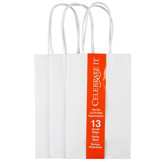 Celebrate It™ Small Paper Bag Value Pack, White