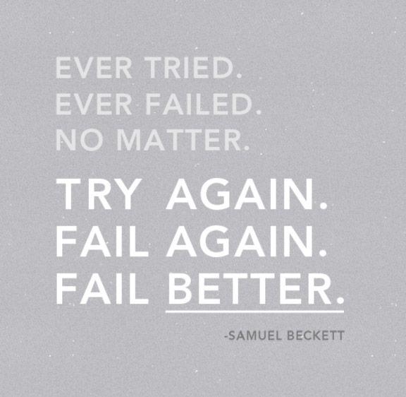 Recordando una frase de Beckett que cambió mi vida para siempre...