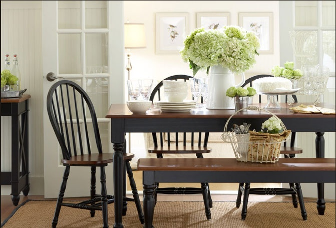 69 best dining room images on pinterest dining area for Casual dining table centerpiece ideas