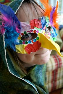 Kid's Craft: Bird Mask. Could use this for a festival or birthday party activity.