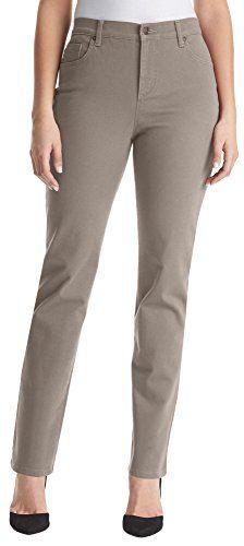 Gloria Vanderbilt Womens Amanda Stretch Jeans 14 Deep oak brown