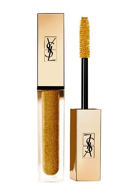 Your Summer-Beauty Guide To Shine #refinery29  http://www.refinery29.com/best-glitter-makeup-products#slide-9  Gold mascara may not be the first thing you reach for when looking for some summer shine, but I'm ready to start the movement if nobody else is. If you're not a body- or cheek-glow kind of person, this is a surprising way to incorporate a little glitz into your life without going overboard. Plus, what's more luxe than gilded lashes?Yves Saint Laurent Mascara Vinyl...