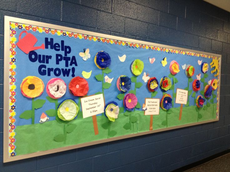 Help Our PTA Grow bulletin I just did for back to school.