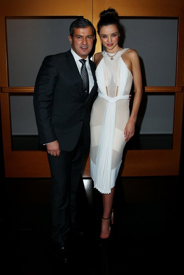 Paul Zahra and Miranda Kerr at the David Jones Fall 2013 launch in Sydney.