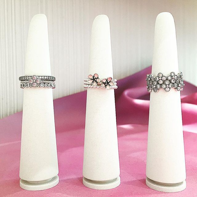 Ring stacking with our new Oriental Blossoms!!   Endless combination possibilities!!