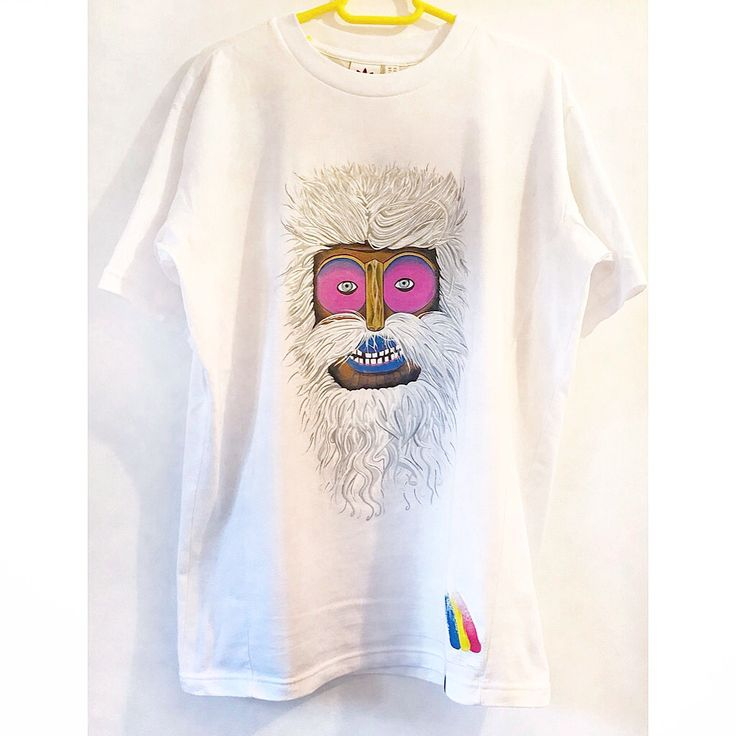 Hand Painted t shirt Traditional romanian mask