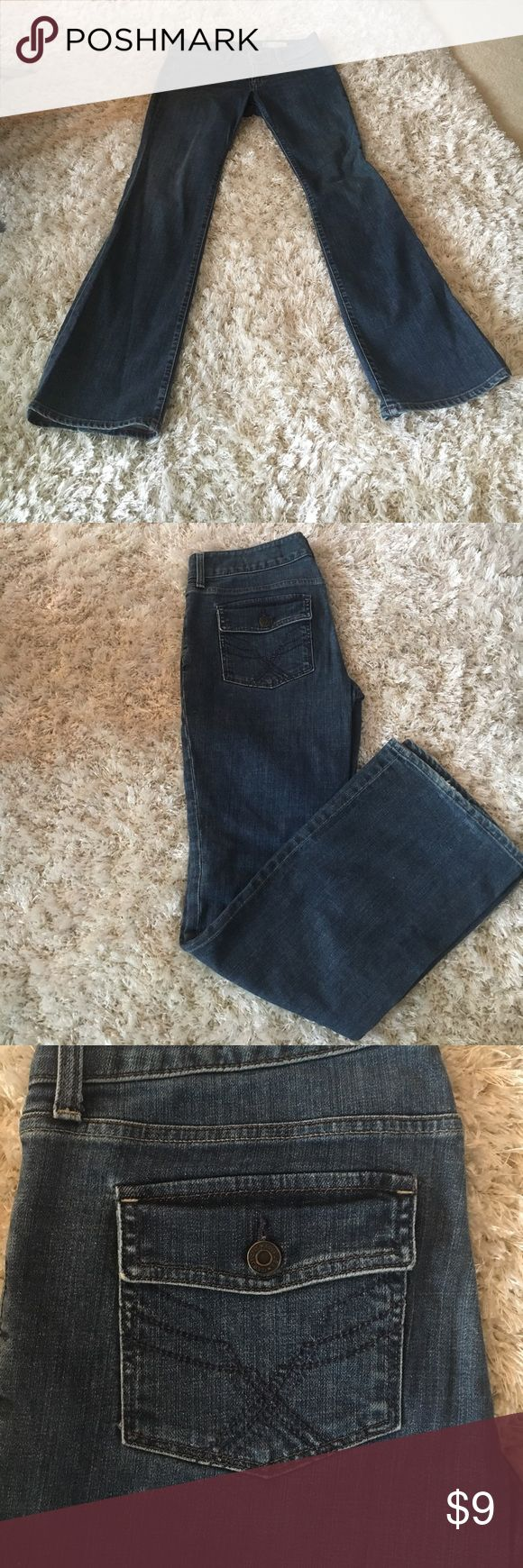 Gap curvy jeans Medium blue GAP curvy jeans.  Show off your sexy curves with these gently used jeans with stretch. GAP Jeans Boot Cut