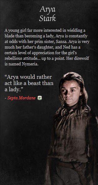 arya stark game of thrones - Google Search