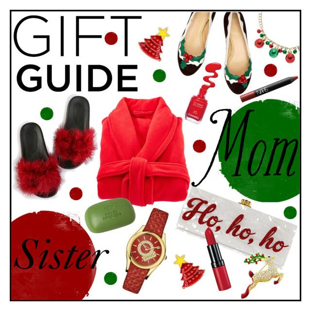 """""""Gift Guide: Your Mom and Sis"""" by gabygrach ❤ liked on Polyvore featuring Edie Parker, Jagger, Salvatore Ferragamo, NARS Cosmetics, polyvoreeditorial, polyvorecontest and Guiftguide"""