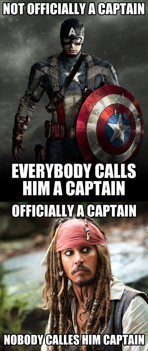 Previous Comment: Poor Jack Sparrow... Me: CAPTAIN Jack Sparrow!