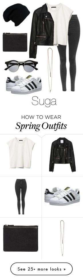 """""""Ideal Type Outfit: Suga"""" by btsoutfits on Polyvore featuring Mode, Priory of Ten, Zara, Serefina, ASOS, adidas Originals und Retrò"""