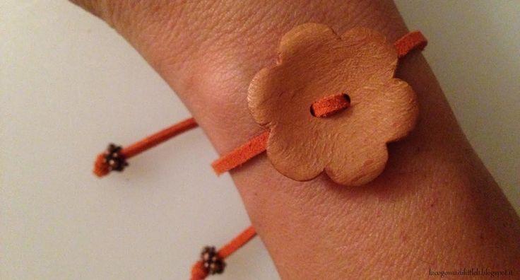 Wood button bracelet