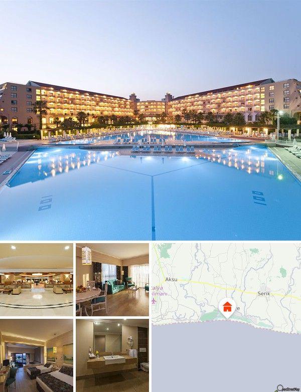 L'hôtel est situé dans les grandes pinèdes de Belek, à 2,5 km de Kadriye. Il se trouve également à 35 km du centre-ville d'Antalya et de Sidé, à 70 km de Kemer et de Termesos, ainsi qu'à 25 km de l'aéroport d'Antalya.