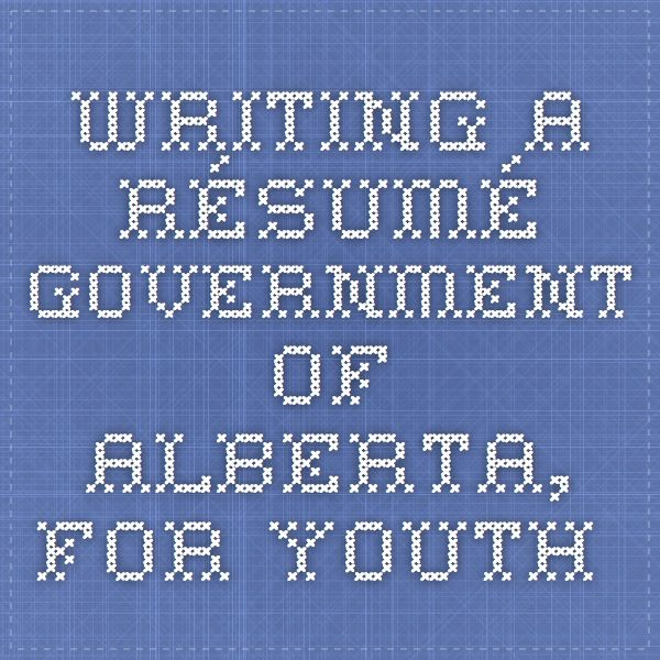 Government of canada resume help