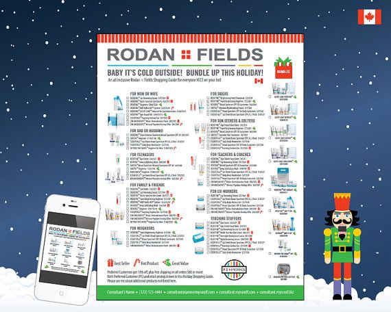 Rodan Fields Holiday Order Checklist & Gift Guide by @ConsultantsProShop on Etsy. Personalized, and in both retail and PC pricing! For Canadian Consultants this 2016 Holiday Season.