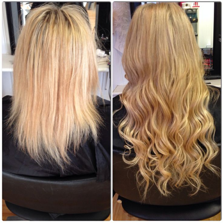 Micro Ring Hair Extensions On Short Hair Before And After Human
