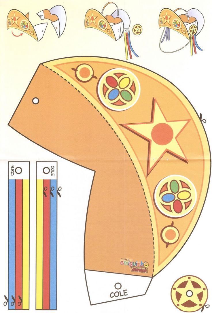 ESPAÇO EDUCAR: Molde de chapéu de cangaceiro para imprimir, recortar e montar!                                                                                                                                                     Mais