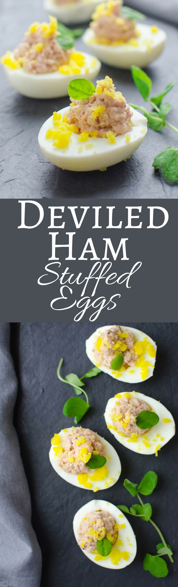 Not Yo Momma's Deviled Eggs! These are filled with savory deviled ham! Easy recipe!