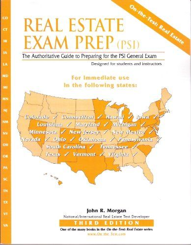 Real Estate Exam Prep (PSI): The Authoritative Guide to Preparing for the PSI General Exam. 128 Pages. Now a concise summary of the basics can be right there with you at all times on your at-hand portable device!For test-prep use in Colorado, Connecticut, Hawaii, Iowa, Kentucky, Louisiana, Maryland, Michigan, Minnesota, Mississippi, New Jersey, New Mexico, Nevada, Ohio, Oklahoma, Pennsylvania, South Carolina, Tennessee, Texas, Vermont, and Virginia. It covers principles and practice...