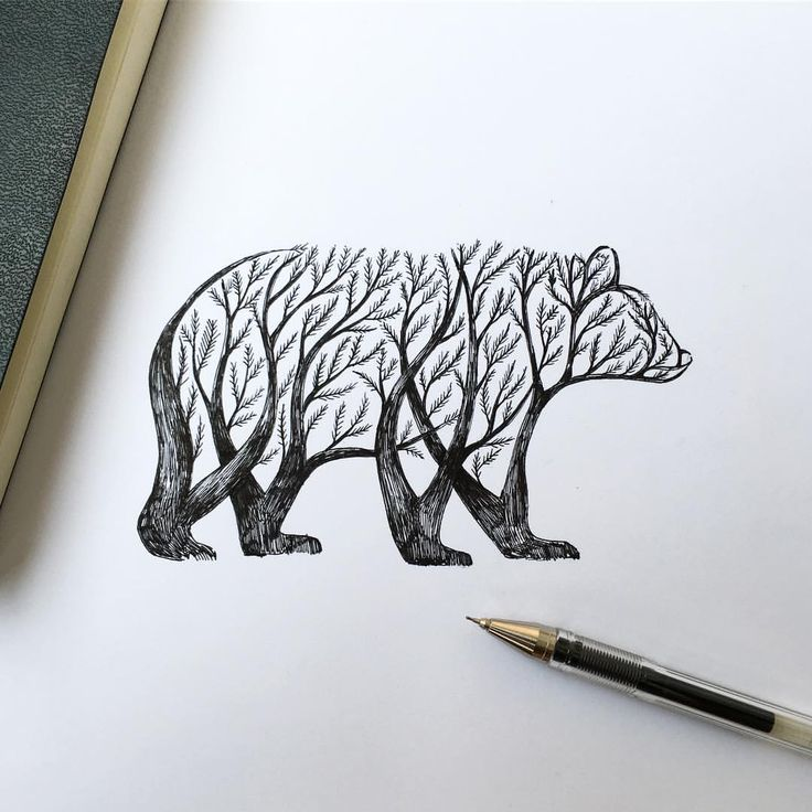 Bear Tree #bear #drawing #tattoo