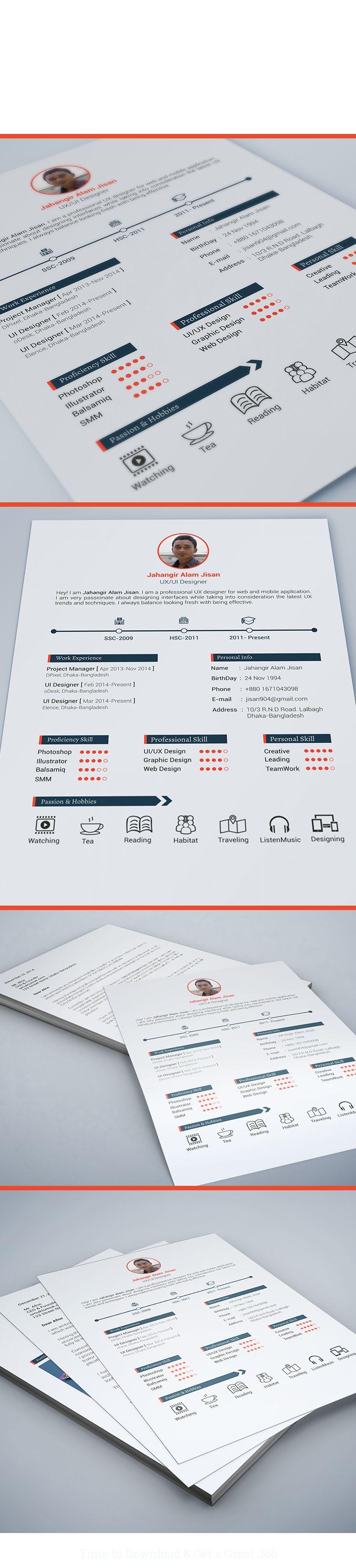 40 best resume images on pinterest resume design design resume