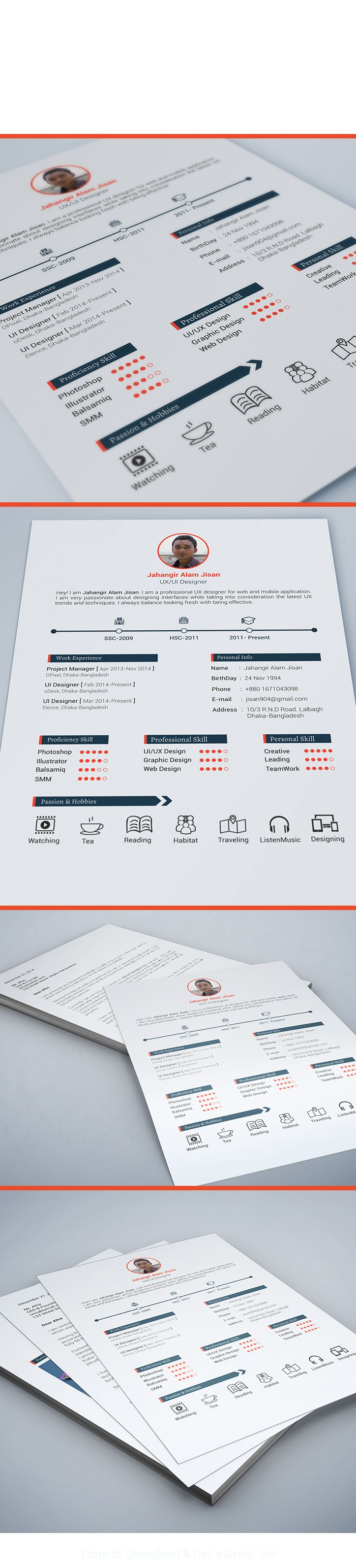 FREE Resume Template (3 page) on Behance