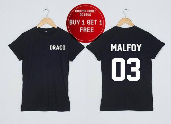 Harry Potter Shirt Draco Malfidus 03 Tshirt twee zijden T by DoubleTimes | Etsy