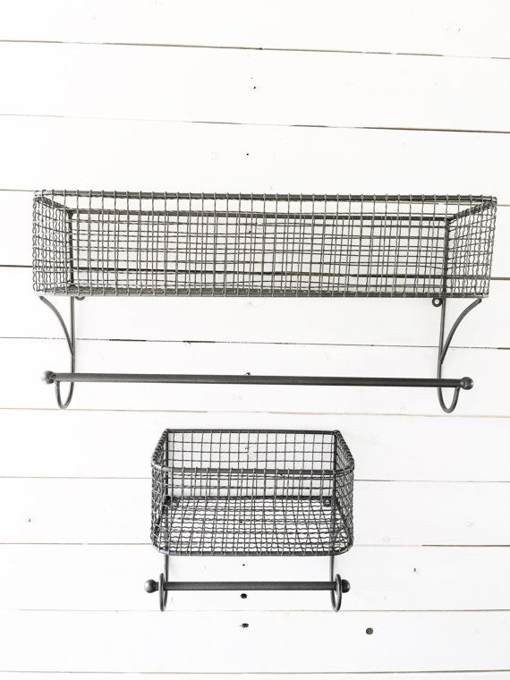 Gunmetal Grey Large Urban Loft Wire Basket Lotion Holder