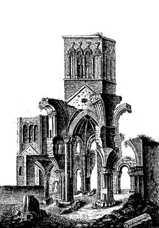 The ruins of Montebourg Abbey in Normandy where Richard de Redvers was buried in 1107. The Redvers gave land to the de Morevilles. The Morevilles gave land to the St. Clairs of Herdmanston, the first of our family in Scotland. More on the St. Clairs of Herdmanston here - http://stclairresearch.com/content/L11-P310-Herdmanston.html