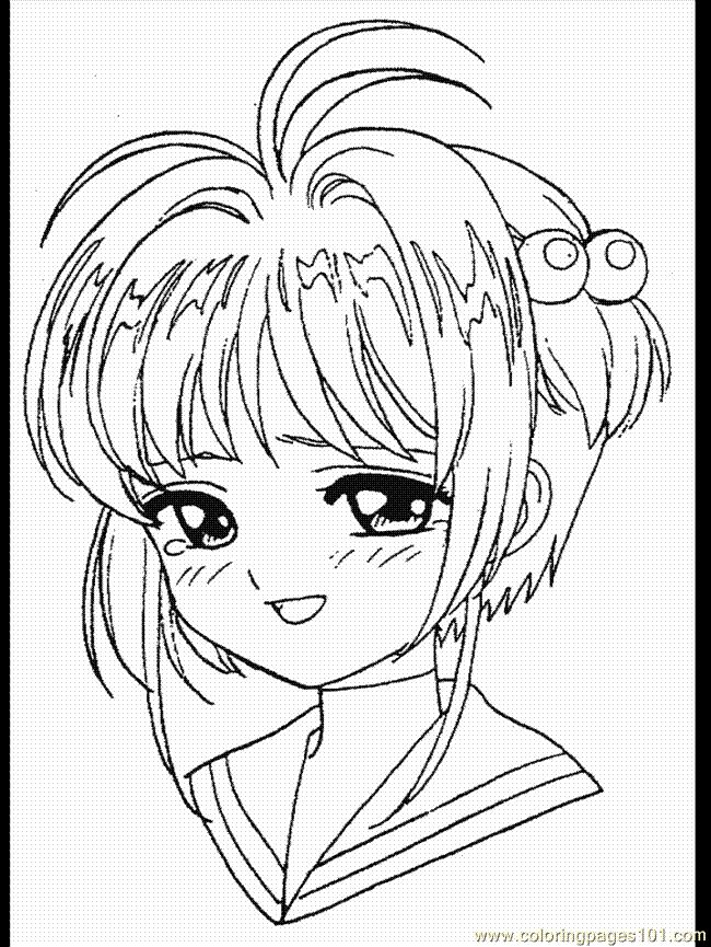 card captor coloring pages - photo#27
