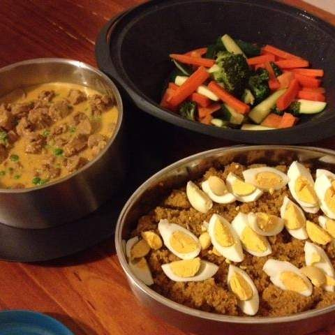 Recipe Coconut Curried Sausages by Skinnymixer - Recipe of category Main dishes - meat