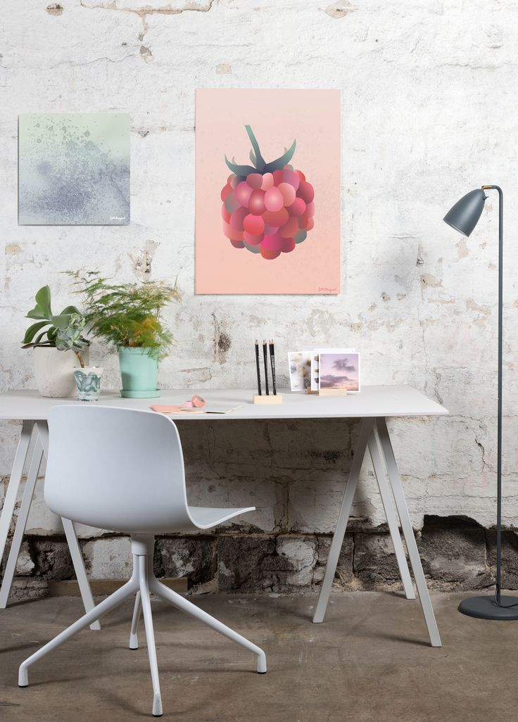 Under Water Poster & Botanic Berry Poster by Danish artist and designer Ditte Maigaard who also runs the Ditte Maigaard Studio, Store and Online Shop.