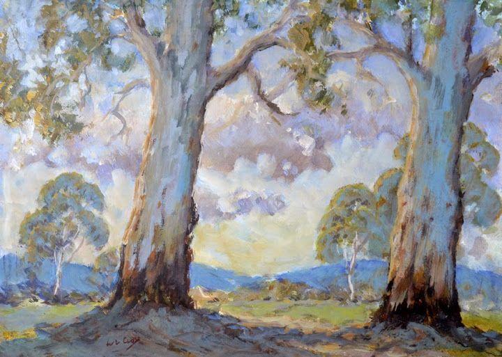 www.llcross.com/ -------- Mixed Media - Painting by Leslie Cross - Australian Artist. Landscape