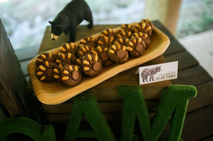 Bear claw cookies from Grizzly Bear Man Cub 1st Birthday Party at Kara's Party Ideas. Must see inspiration at karaspartyideas.com!