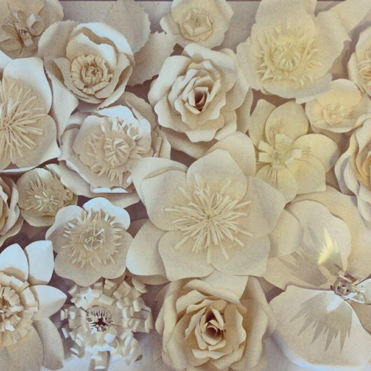Mural de flores gigantes ana c ssia porto arte em papel for Mural de fotos en cartulina