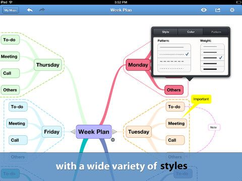 BigMind - a nice iPad app for brainstorming or mind mapping