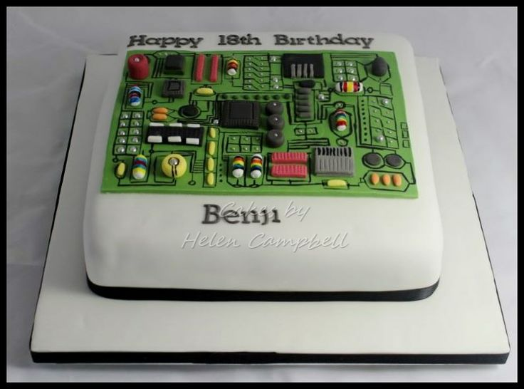 Motherboard computer cake. Find me on facebook at Cakes by Helen Campbell