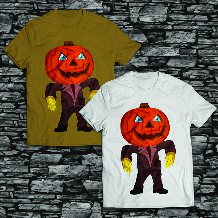 Halloween Pumpkin T shirt design